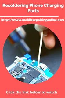 Resoldering Phone Charging Ports