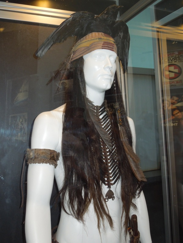 Johnny Depp Tonto headdress Lone Ranger