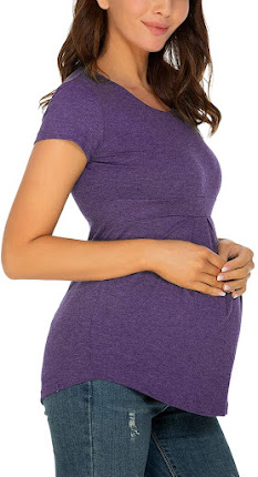 Trendy and Stylish Maternity T-Shirts Tops Clothes