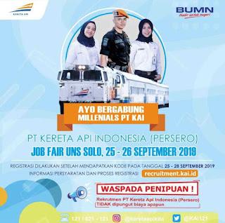 Lowongan Kerja PT Kereta Api Indonesia (Persero) September 2019