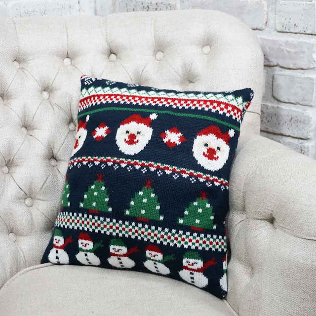 easy christmas sweater pillow