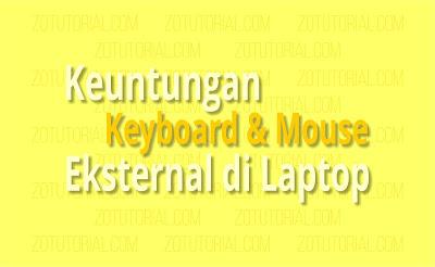 Keuntungan Menggunakan Keyboard dan Mouse Eksternal di Laptop