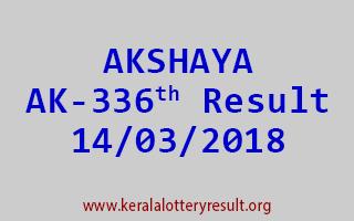 AKSHAYA Lottery AK 336 Results 14-03-2018