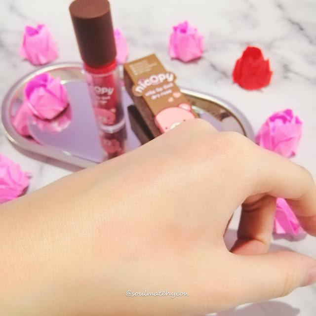 Review; Nicopy Vita Lip Tint Dry Rose