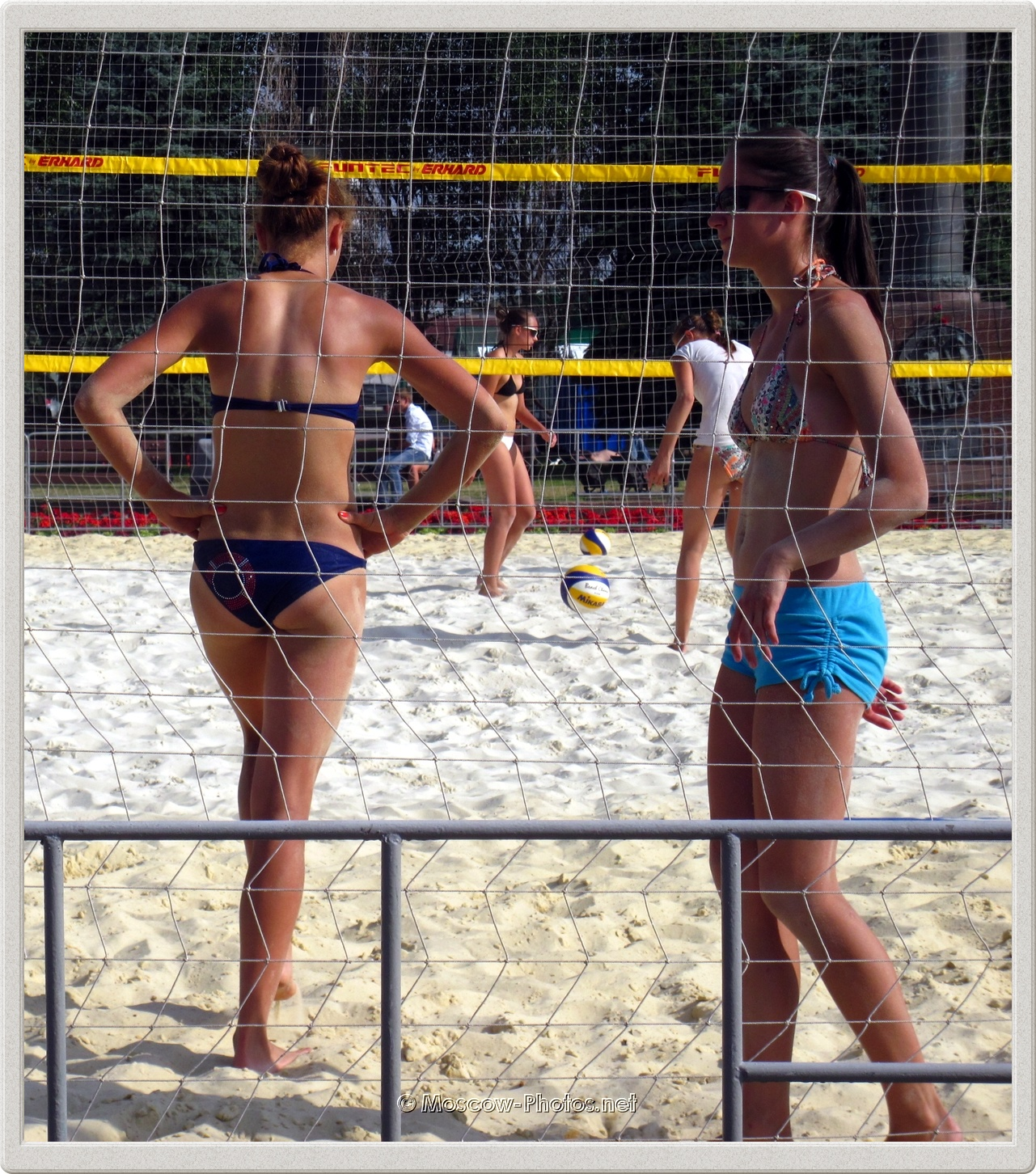 Tanned Beach Volley Girls and Hot Summer