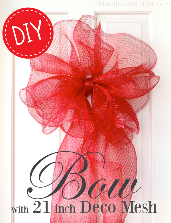 Making a Large Bow with Deco Mesh  sc 1 st  Party Ideas by Mardi Gras Outlet & Party Ideas by Mardi Gras Outlet: Making a Large Bow with Deco Mesh