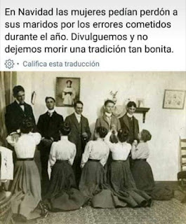 Mujeres en años 1900 piden perdón maridos por Navidad
