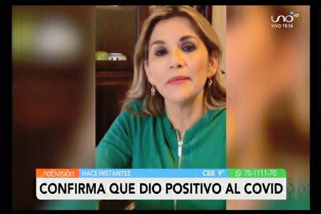 """Presidenta Áñez da positivo a Covid: """"Voy a seguir trabajando de manera virtual desde mi aislamiento"""""""