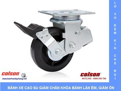 Bánh xe đẩy giảm xóc lò xo đôi có hộp bảo vệ Colson Caster tại Hà Nội banhxedaycolson.com