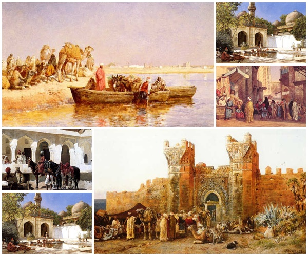 لوحات Orientalist  للفنان Edwin Lord Weeks مجموعة اولى