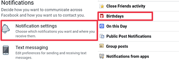 Turn off Birthday Notification