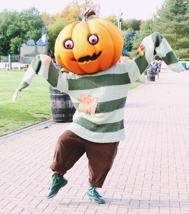 Scarefest pumpkin mascot