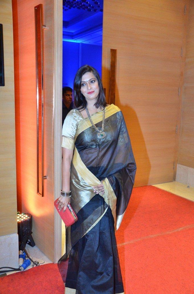 Varalaxmi Sarathkumar Photos In Black Saree Indian Filmy