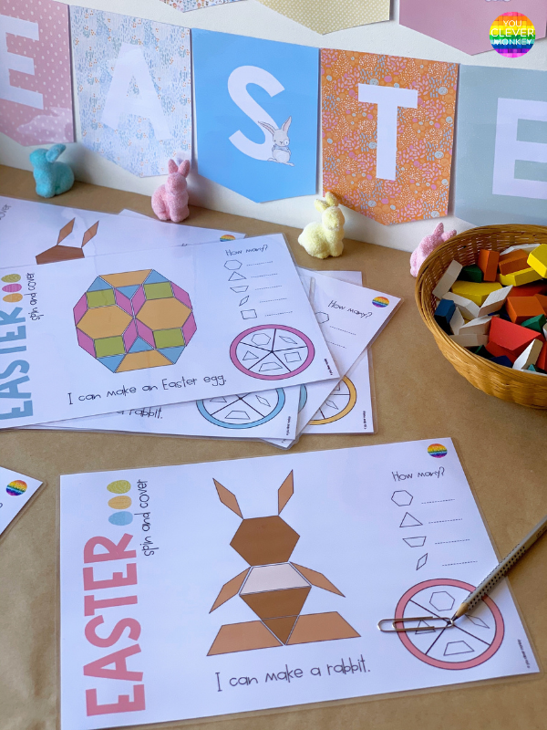 EASTER PATTERN BLOCK GAMES CHILDREN LOVE FOR YOUR MATH CENTERS  | you clever monkey