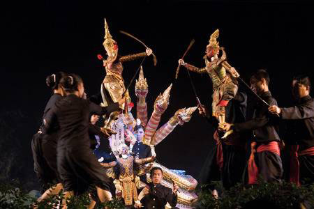 bangkok puppet show,thai puppet show,bangkok puppet dance,artist house bangkok,puppet show bangkok