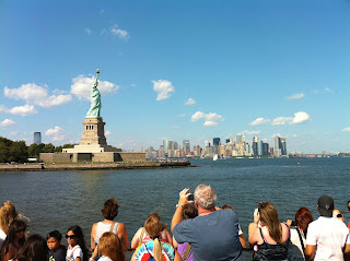 David Brodosi on boat to statue of liberty