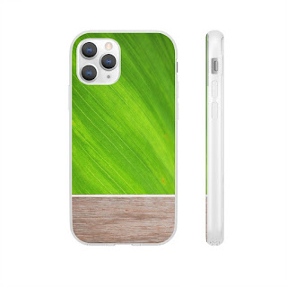 Green Leaf Wood Phone Case