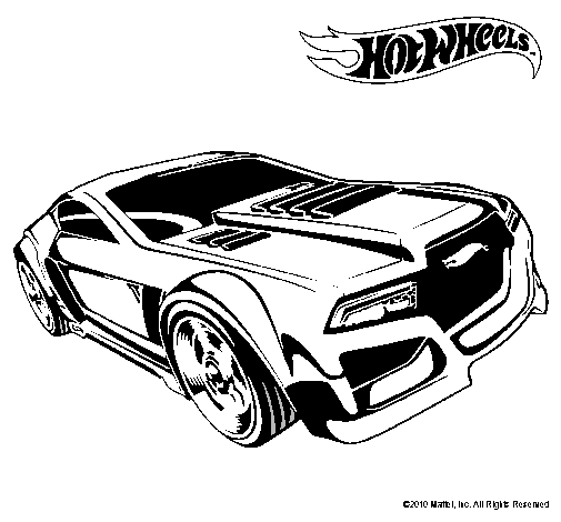 Hot Wheels Coloring Pages 44