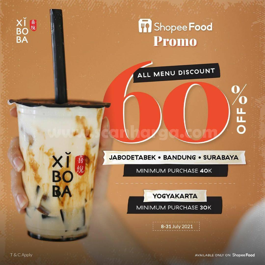 Promo XIBOBA Diskon hingga 60% Semua Menu via ShopeeFood