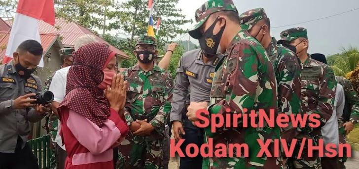 Berkat Inisiatif Babinsa, Rumah Warga Buton di Bedah  Oleh Pangdam XIV/Hsn