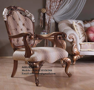 Indonesia Furniture Exporter ,Classic chair Furniture,French chair Provincial Furniture Indonesia code A109