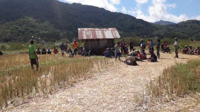 Perbatasan Memanas, 170 Orang dari wilayah Sangan Kalo Mendatangi Dataran Gising