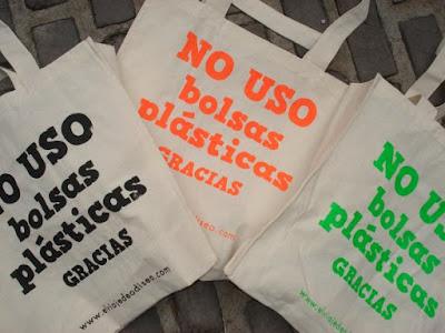 No uses bolsas de plástico