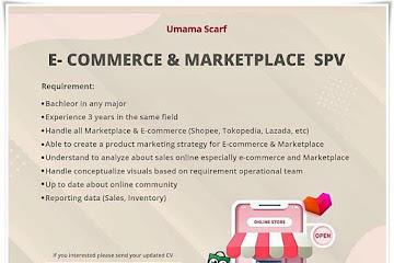 Loker Bandung Supervisor E-Commerce & Marketplace Umama Scarf