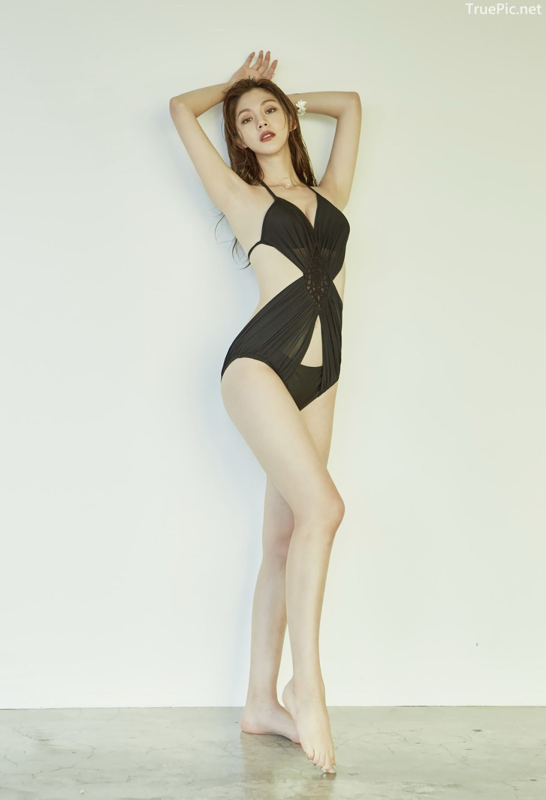 Korean model and fashion - Lee Chae Eun - Monokini for summer vacation - Picture 8