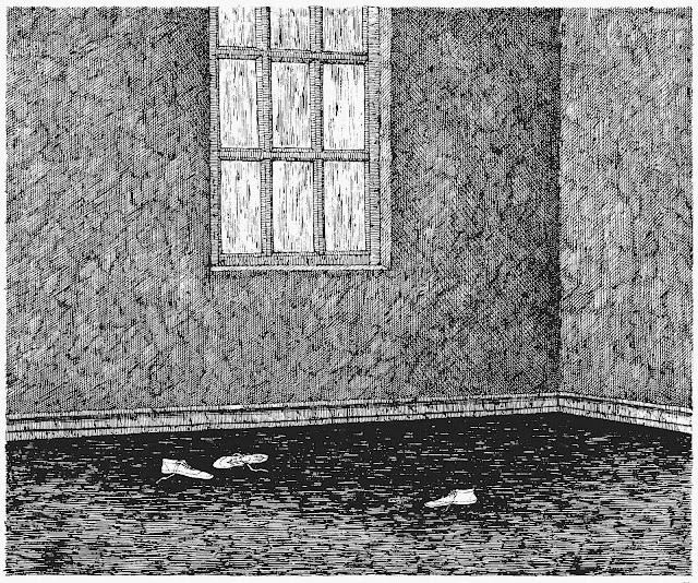 an odd empty corner by Edward Gorey
