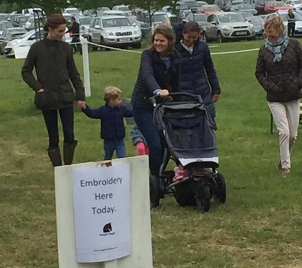 Prince George Princess Charlotte And Kate At Houghton