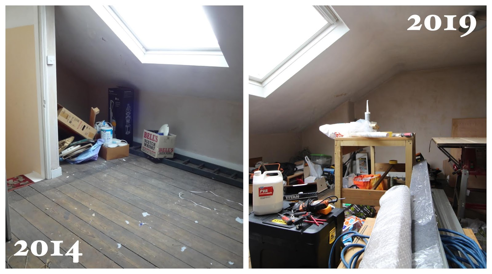 attic bedroom renovation before and after 5 years