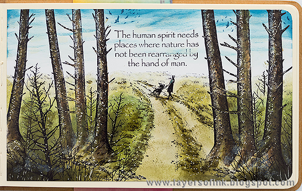 Layers of ink - Forest Walk Scenic Stamping by Anna-Karin with Stampscapes stamps.