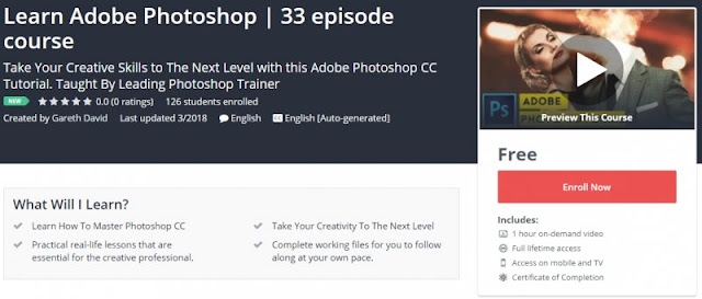 [100% Free] Learn Adobe Photoshop | 33 episode course