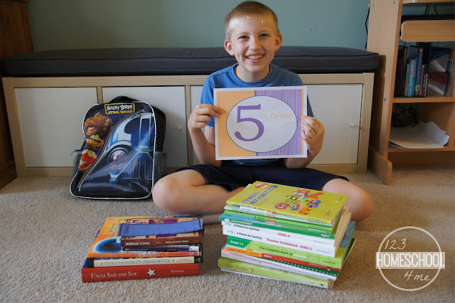 homeschool organization in simple backpacks for easy on the go and little extra supplies needed