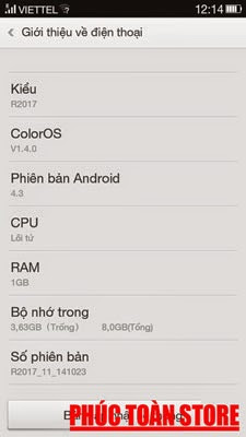 Tiếng Việt Oppo R2017 alt