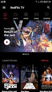 تحميل تطبيق RedFlix TV 1.0.8.apk مشاهدة الأفلام والبرامج التلفزيونية على الانترنت مجانا.