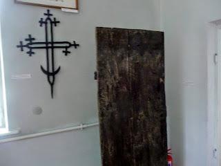 Руда. Музей. Хрест дерев'яної церкви Різдва Пресвятої Богородиці 1740 р.