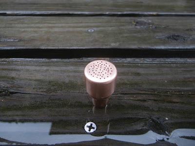 銅管キャップ 穴