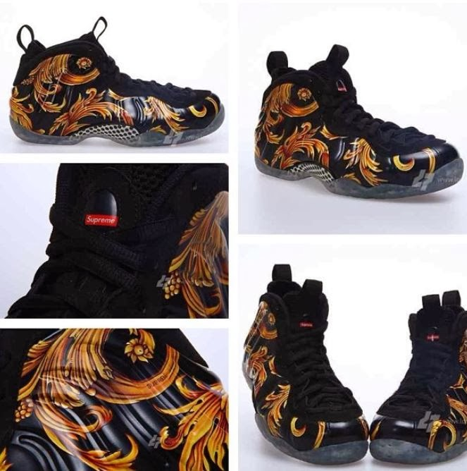 08d3941f37b ... images via Long7 at the Supreme x Nike Air Foamposite One Black  Gold  Sneaker