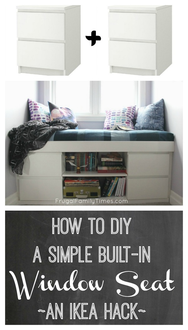 IKEA window seat tutorial