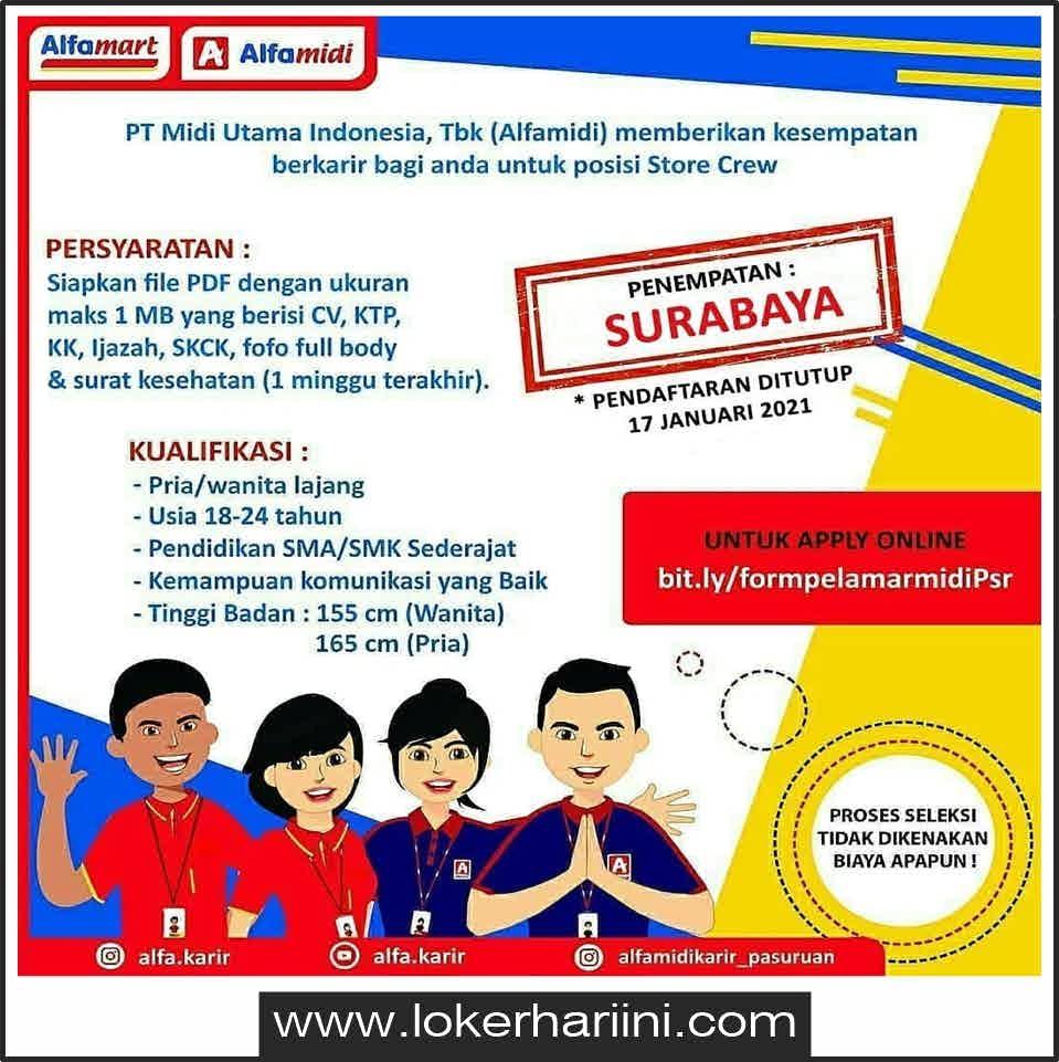 Lowongan Kerja Surabaya 2021 Terbaru Lulusan Sma Cari Kerja