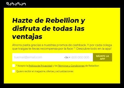 Hazte de Rebellion ¡gratis!
