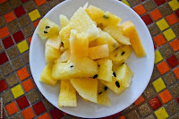 la cucina, lunch, dessert, chopped watermelon, Mountain Lake Restort, Caliraya Springs, Laguna