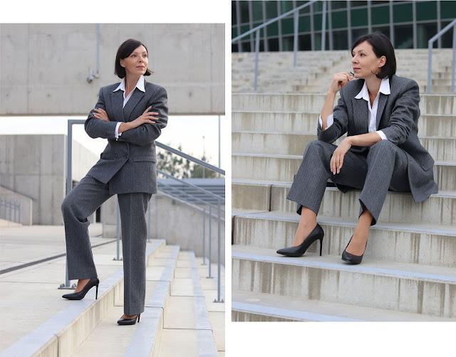 garnitury oversize luźne stylizacje