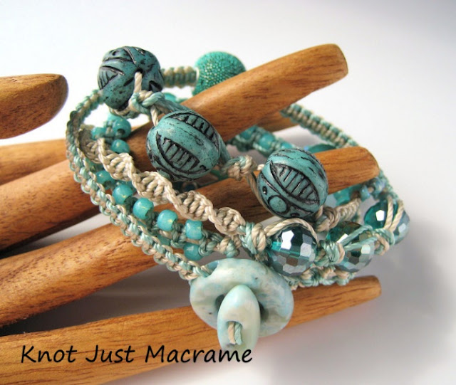 Micro Macrame Wrap bracelet class by Sherri Stokey.