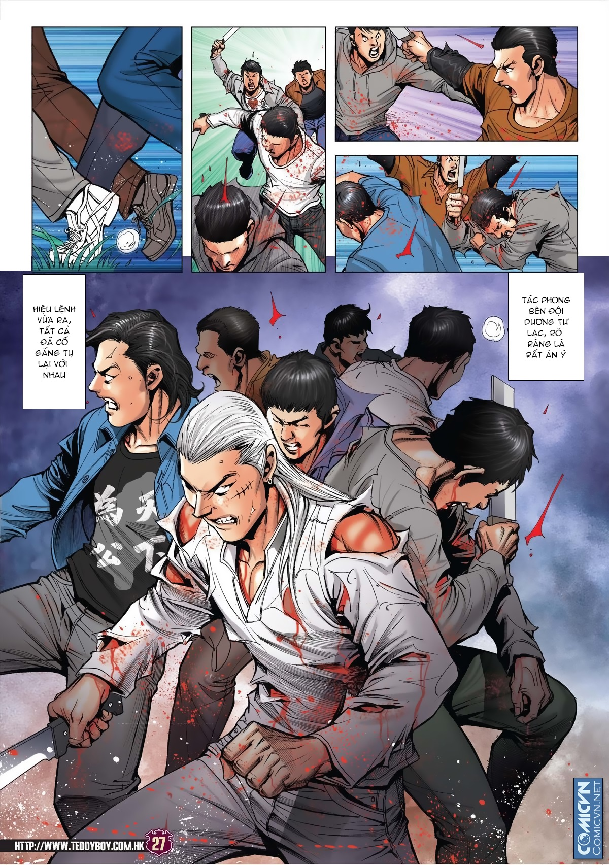 Người Trong Giang Hồ chapter 1985: bốc shit trang 24