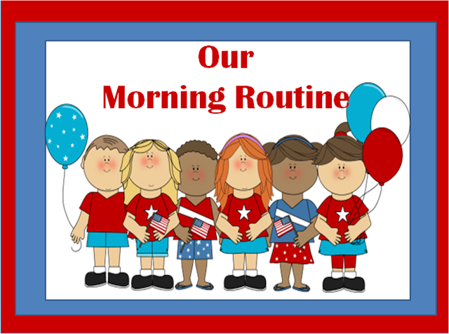 Fern Smith's Classroom Ideas Morning Routine Pledge and Songs.
