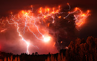 Lightning Strikes over the Puyehue-Cordón Caulle Volcano