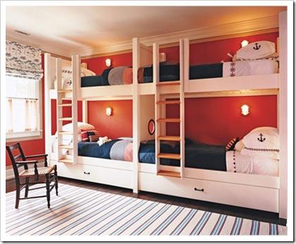 Cuatro camas en un dormitorio dormitorio para 4 by for Hotel para cuatro personas
